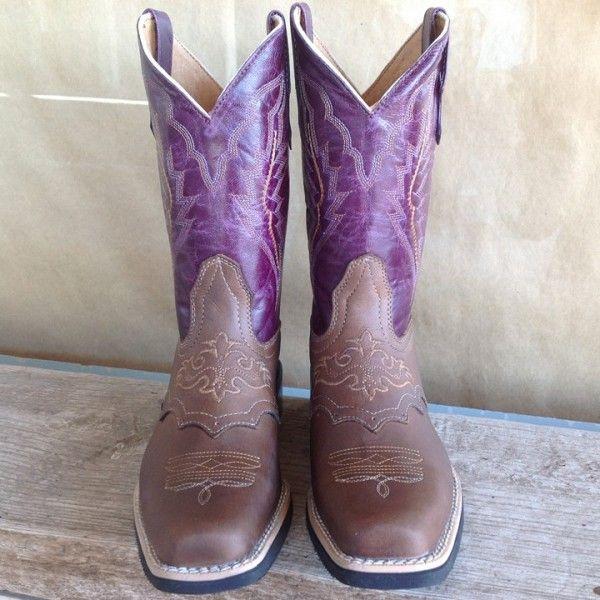 ... Texas Gold Minors Purple Daze Square Toe Kids Cowboy Boots ...