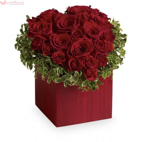 Joyfull heart Deluxe- Inima din trandafiri rosii