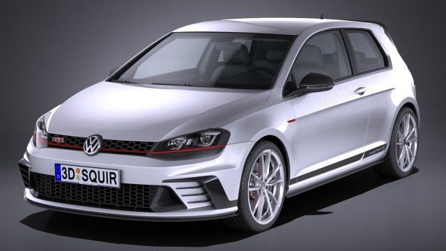 Volkswagen Golf GTI Clubsport S 2017 3D Model .max .c4d .obj .3ds .fbx .lwo .stl @3DExport.com by SQUIR