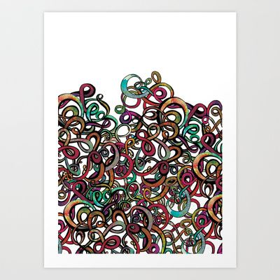 Squiggles in a Tangle Art Print by Sketchbook Designs - $18.00