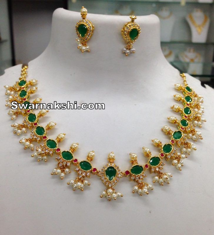 a79b5b6112 1 gram gold necklace oval model collection - Swarnakshi Jewels And  Accessories