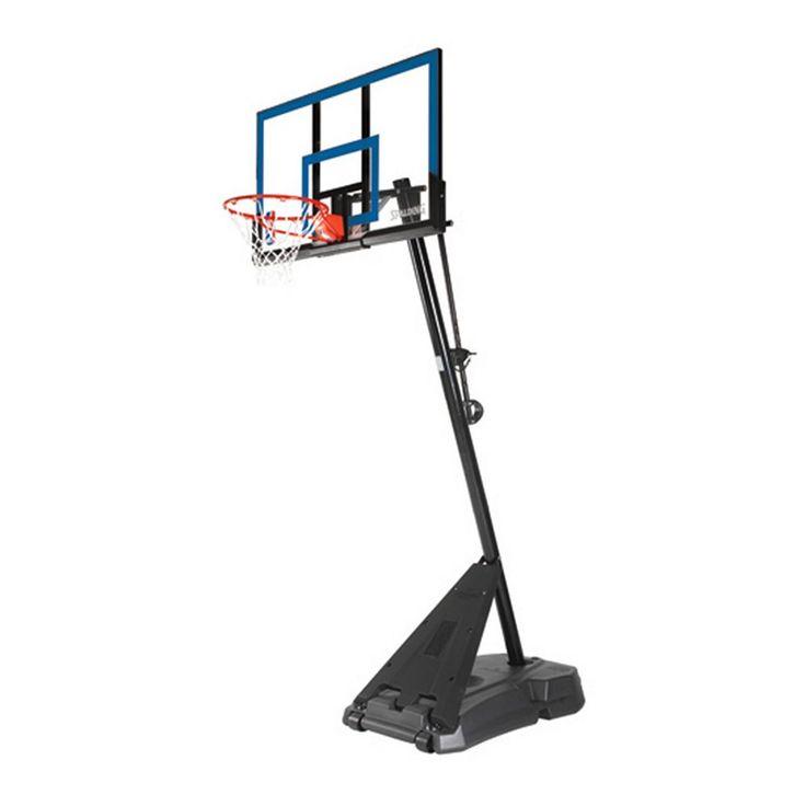 Spalding 50-in. Acrylic Portable Basketball Hoop, Multicolor