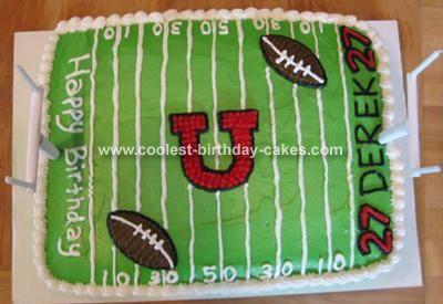 25 Best Ideas About Football Field Cake On Pinterest