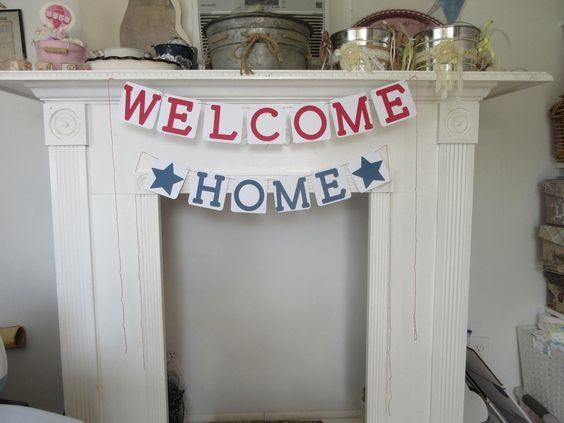 Welcome Home Banner Military Welcome Home Sign by ItzMyParty on Etsy