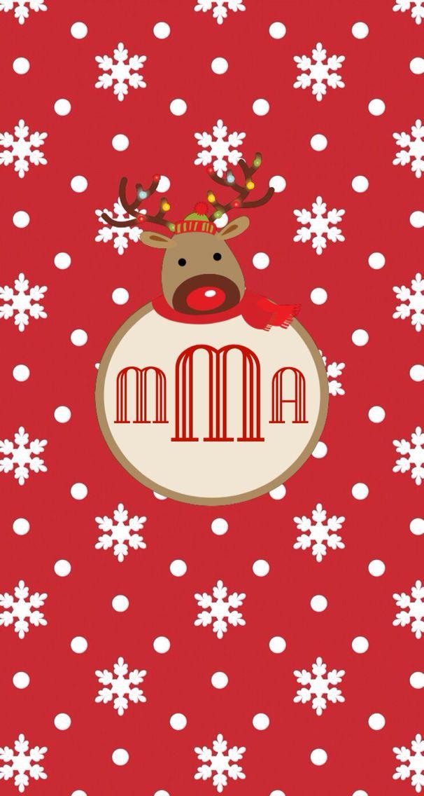 mMa monogram wallpaper christmas