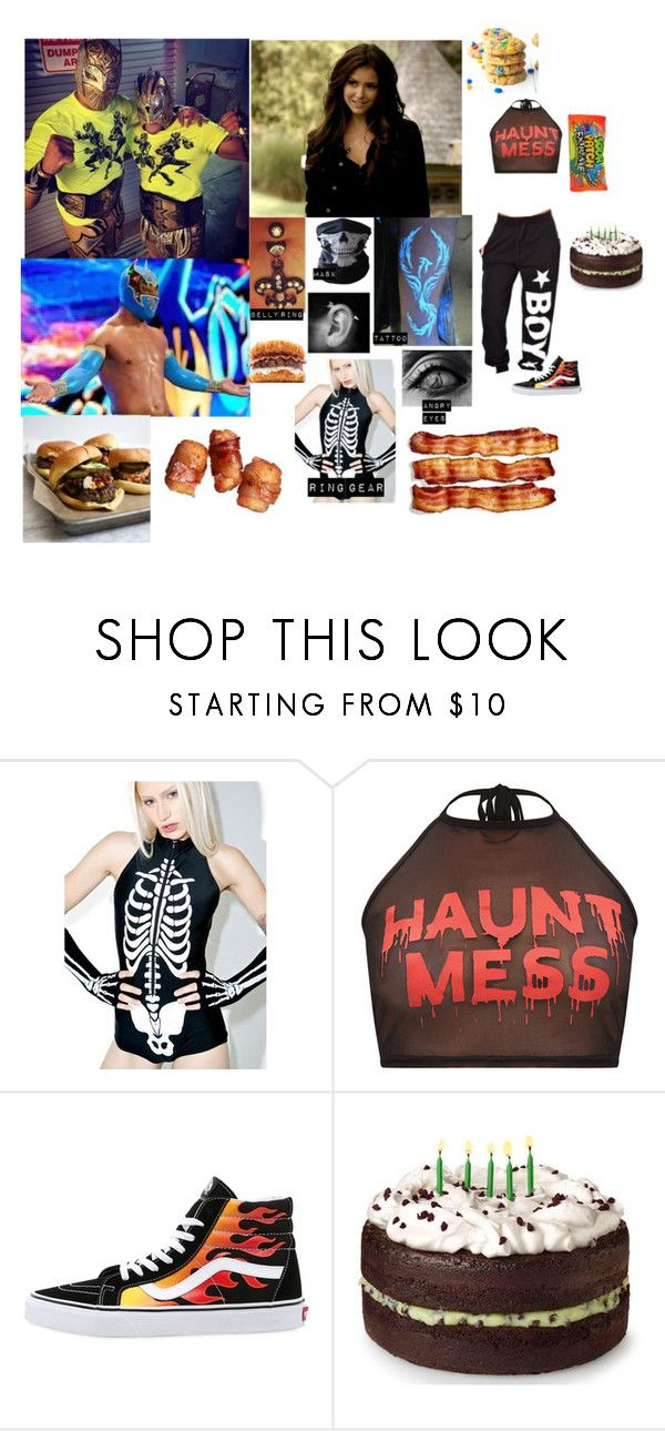 """""""Lucha Dragons: Amaii"""" by rhiannabliss on Polyvore featuring Neville, WWE, Vans and Junk Food Clothing"""