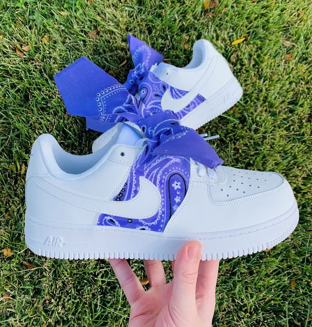 Purple Bandana Air Force 1 (With images) Nike shoes air
