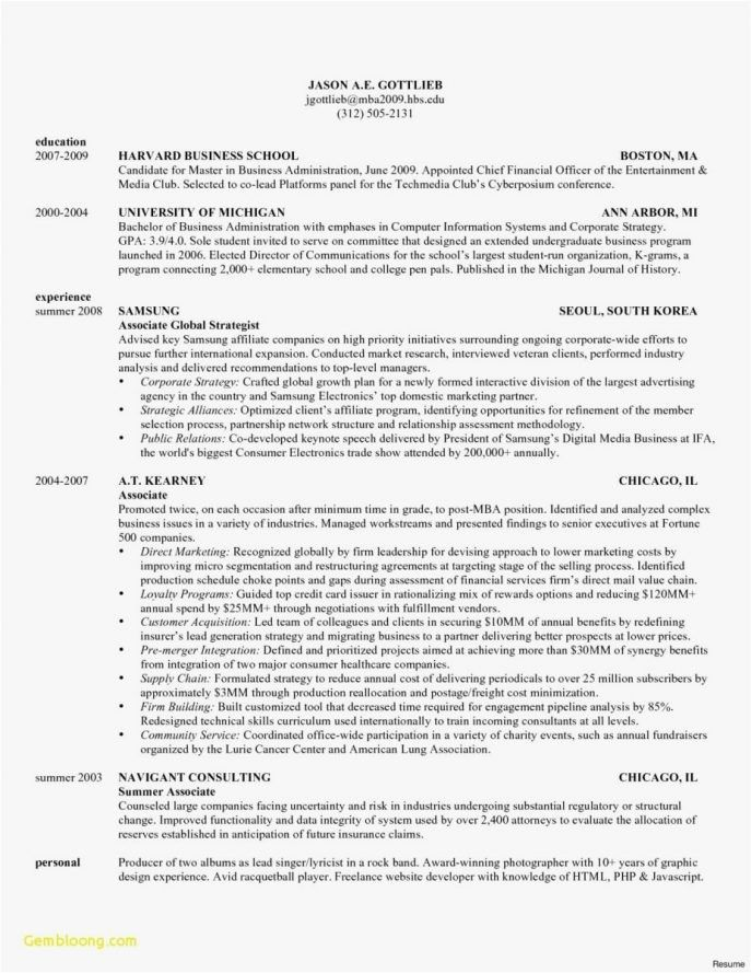 Resume Format Harvard Business School 2-Resume Format Business
