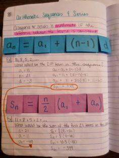 Arithmetic Sequences and Series Foldables
