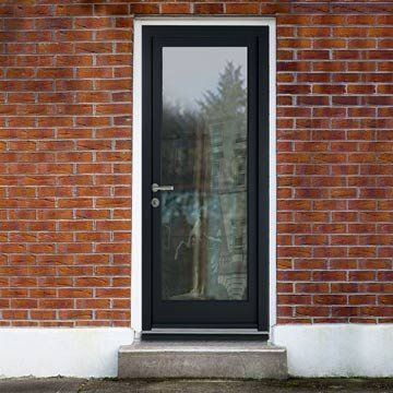 Stylish, clean and smart, this Henley door design makes a striking impression giving the option of a solid timber version. #directdoors #daledoors