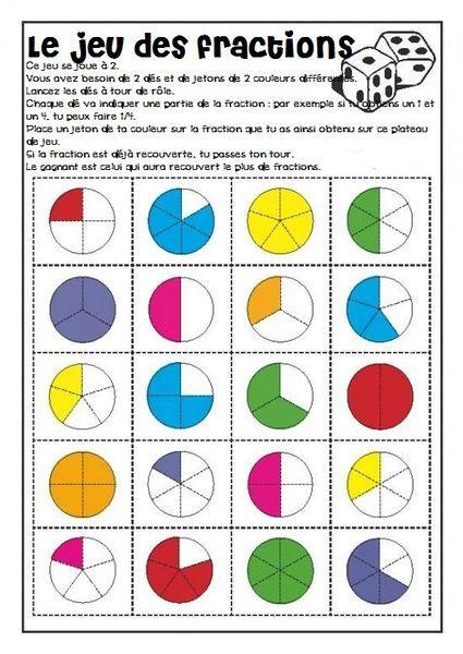Un petit jeu à plastifier, qui permettra à deux élèves de jouer ensemble. Voici la règle : Ce jeu se joue à 2. Vous avez besoin de 2 dés et de jetons de 2 couleurs différentes. Lancez les dés à tou…