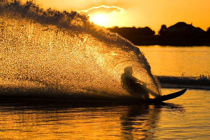 Sunrise/Sunset Waterskiing any day of the summer AND my spray will get so  much better.