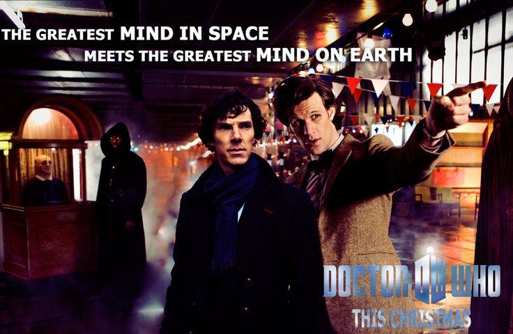 WhoLock #BenedictCumberbatch #MattSmith #SherlockHolmes #11thDoctor Meeting of t
