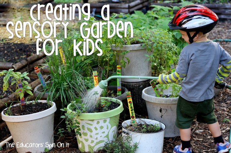 Creating an edible sensory garden for children with herbs from The Eduators' Spin On It