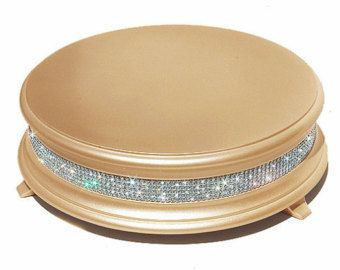18 inch Ivory Pearl Diamond Wedding Cake Stand by WeddingFads