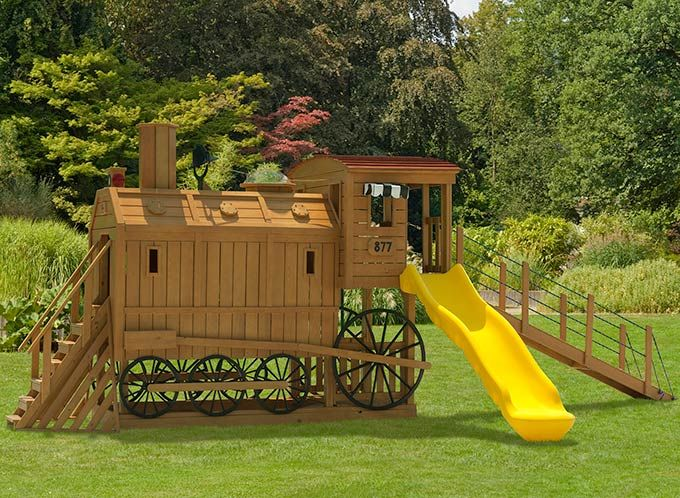 wooden train engine playset playground i want it