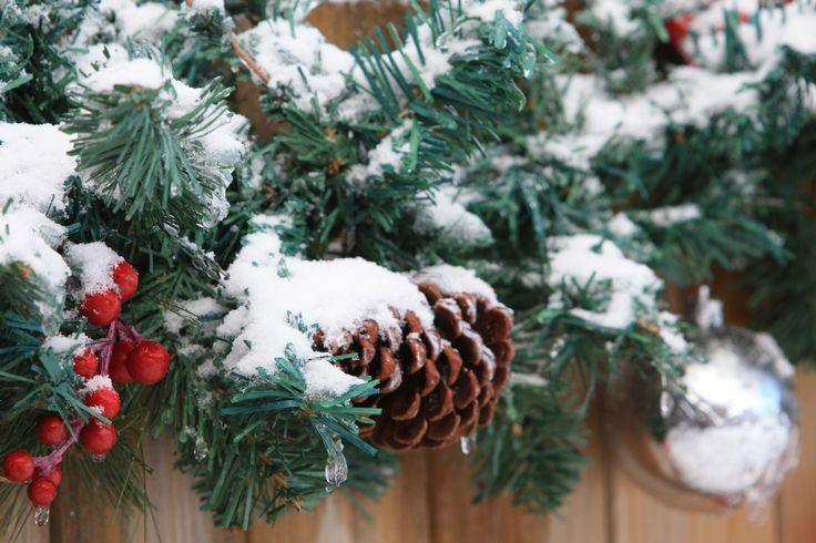 Garland w/ pine cone and ornament