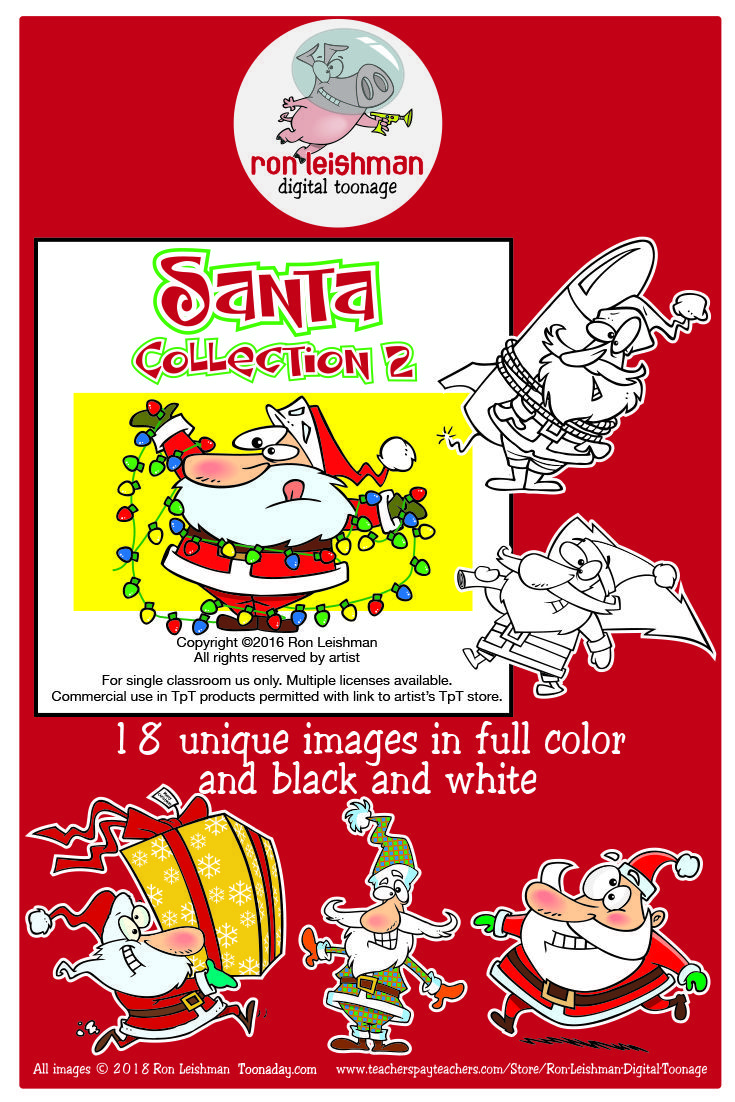 santa cartoon elementary library elementary schools school resources teacher resources teaching [ 735 x 1102 Pixel ]