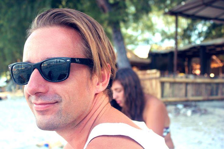 Am Strand von Gili T.