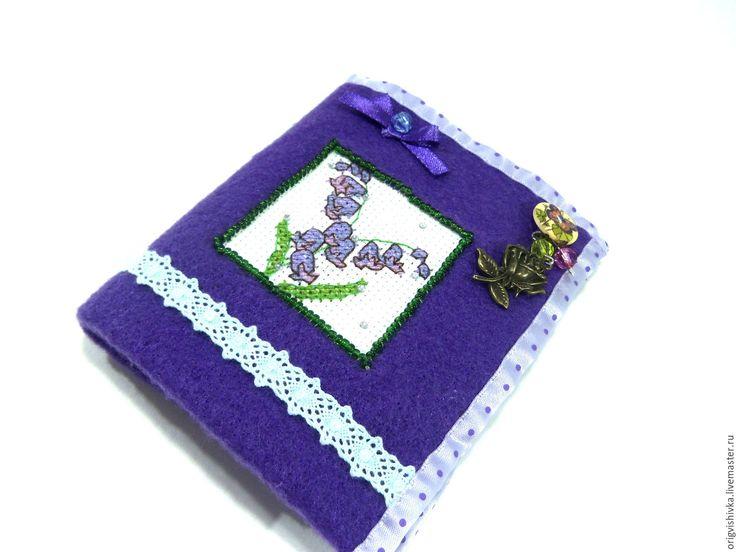 Купить Игольница книжка Колокольчики - фиолетовый, игольница, игольница книжка, Подарок рукодельнице, Подарок мастерице
