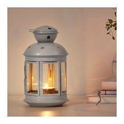 Amazing ROTERA Laterne f r Teelicht drinnen drau en grau IKEA