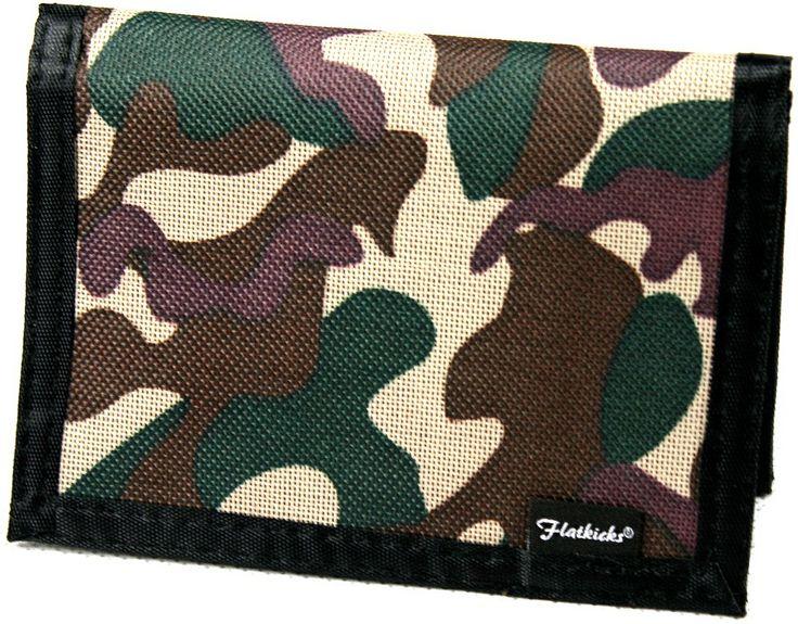 Flatkicks,wallet, camo www.flatkicks.com