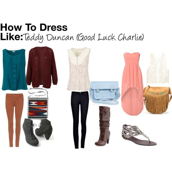 """How To Dress Like: Teddy Duncan (Good Luck Charlie)"" by guardingangels on Polyvore"