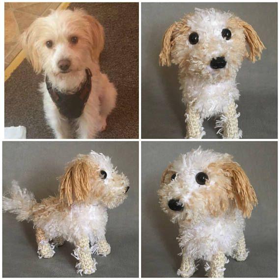 Crochet Long Haired Terrier Custom Terrier Amigurumi Dog Crochet Jack Russell Plush Pet Pet Replica Stuffed Custom Dog Custom Pet Pet Replica Custom Dog Jack Russell