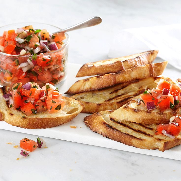 The tomatoes featured in this Bruchetta #recipe where grown especially for us by our local grower. #PCSummer