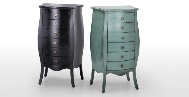 Bourbon Tallboy Black Chest Of Drawers | made.com