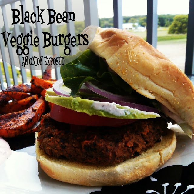 Black Bean Veggie Burgers {An Onion Exposed}