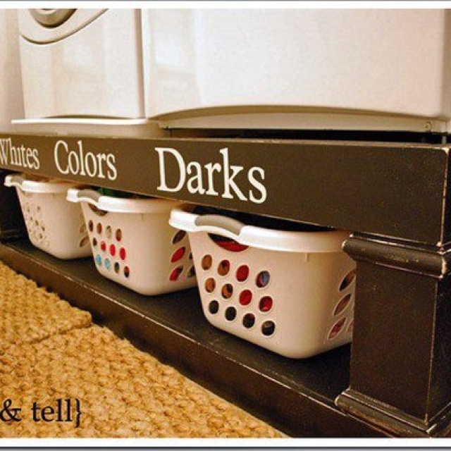 What a great way to make sure that your white T's stay white and your colors stay bright!