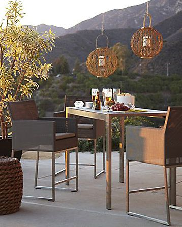 crate and barrel outdoor lighting. boxy outdoor dining table and chairs decoist crate barrel lighting i