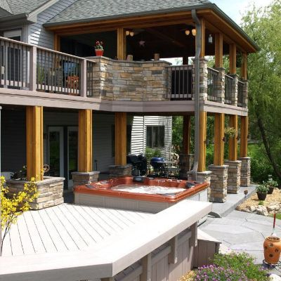 141 best deck design ideas for swimming pools, hot tubs and spas ... - Spa Patio Ideas