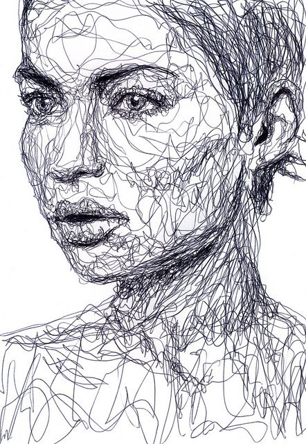 Scribble Drawing Artists : Best ideas about contour line drawing on pinterest