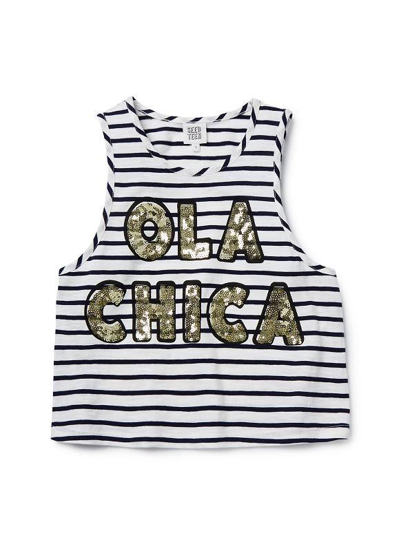 Teen Girls Tops Tees & Tanks | Sequin Ola Tank | Seed Heritage