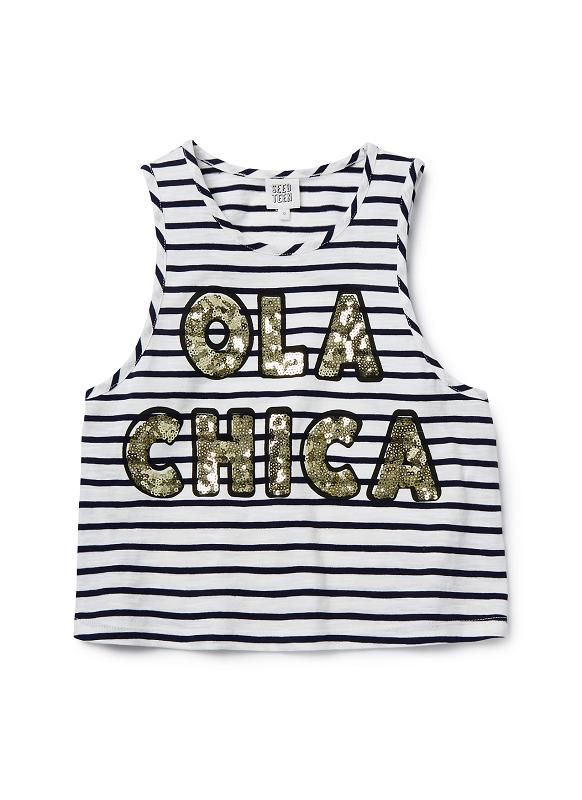 Teen Girls Tops Tees & Tanks | Sequin Ola Tank | Seed Heritage