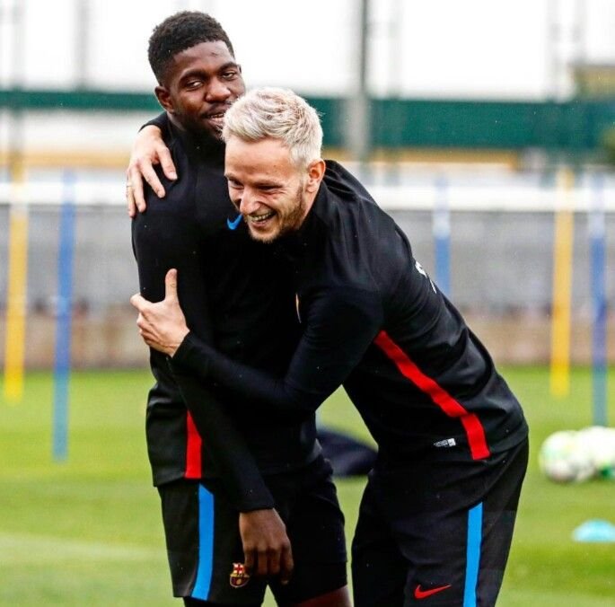 Image result for Ivan Rakitic and Umtiti