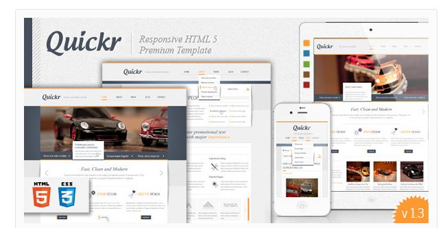 21 Great Looking HTML 5 Templates