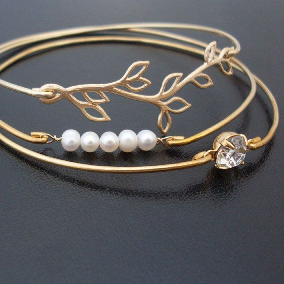 Pearl Bridesmaid Jewelry Set Pearl Bridesmaid by FrostedWillow