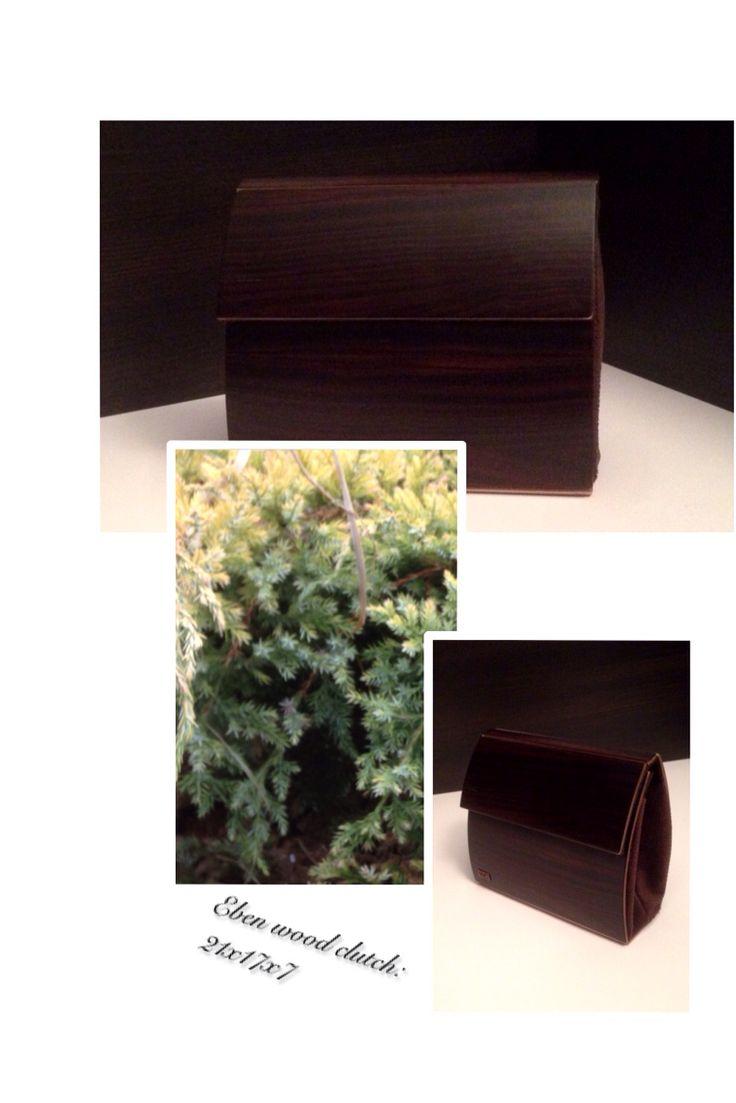 Eben wood clutch  Handmade in Hungary