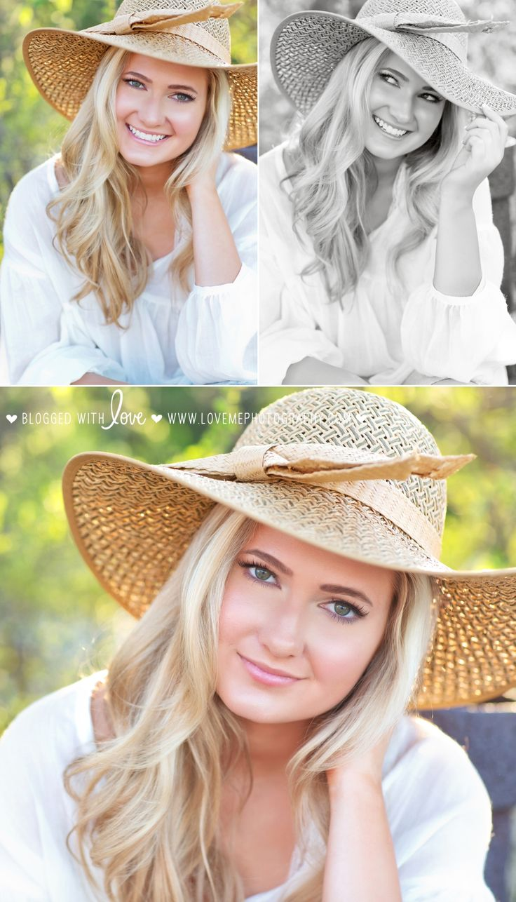 A straw hat + a flowy white top = the perfect look for a spring or summer session! | Senior Portrait Session at White Rock Lake | Argyle High School
