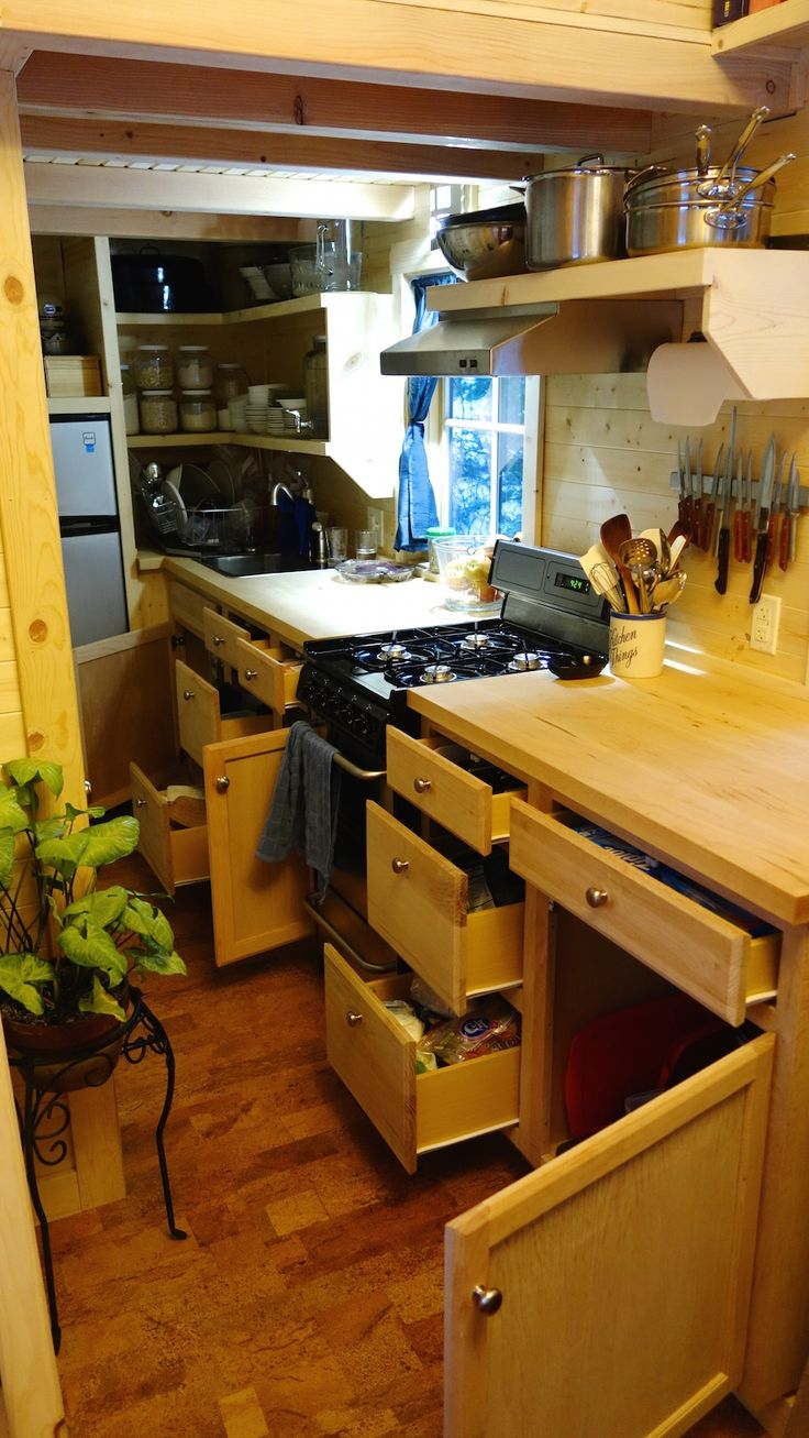 Tiny House Kitchen find this pin and more on tiny house kitchens 392 Best Images About Tiny House Kitchens On Pinterest Stove Kitchen Spotlights And Open Shelving
