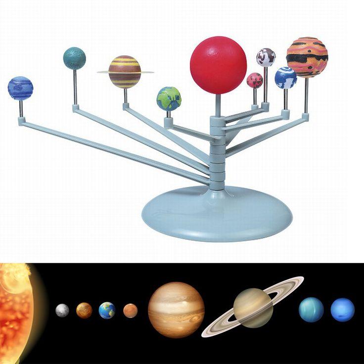 Pintura de los niños Educativos de DIY Planetario Nueve Planetas en el Sistema Solar Ciencia Juguetes Didácticos