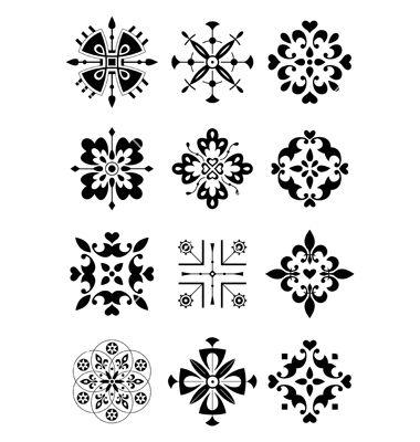 Ethnic pattern vector on VectorStock®