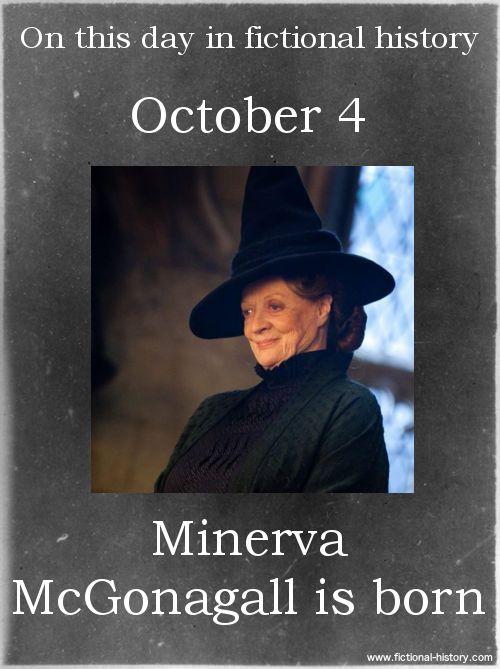 (Source) Name: Minerva McGonagall Birthdate: October 4 Sun Sign: Libra, the Scales