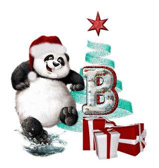 Alfabeto Navideño animado de ositos panda. | Oh my Alfabetos!