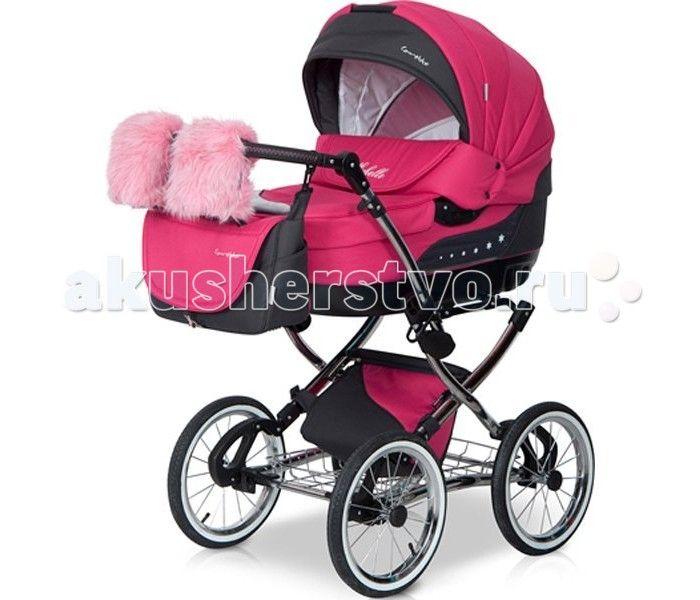 Коляска Caretto Michelle 3 в 1  Детская коляска Caretto Michelle 3 в 1 выглядит очень презентабельно – зеркальная хромированная рама, меховые варежки для мамы с креплением на ручку коляски, дополнительная изящная сумка для покупок или игрушек с крышкой – имея такую красавицу, прогулки с малышом будут в радость маме.   Детская коляска оснащена двумя модулями, что позволит ее использовать с рождения малыша до возраста 3-х лет. Для комфорта и безопасности ребенка предусмотрены основные…