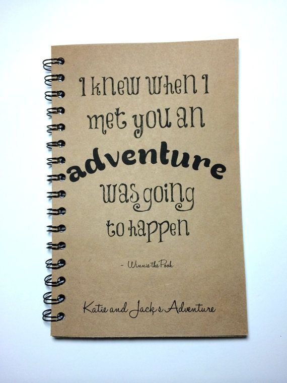 Adventure Notebook Winnie The Pooh Quote Adventure Book