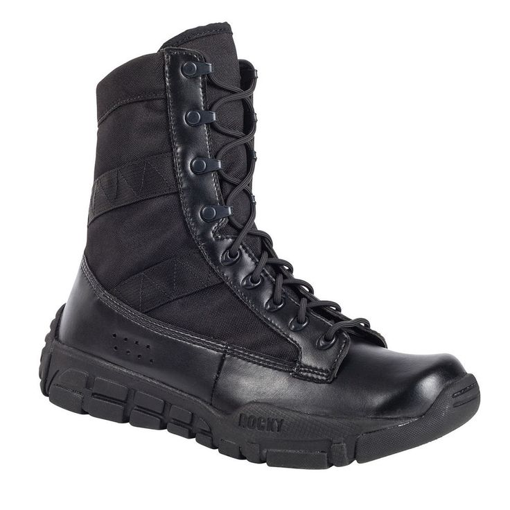 Rocky Men's C4T Military Inspired Black Lace-Up Duty Boots, RY008 7M #ROCKYBRANDS #WorkSafety